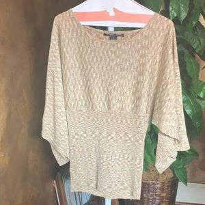 89th & Madison Gold/Metallic Sparkly Blouse
